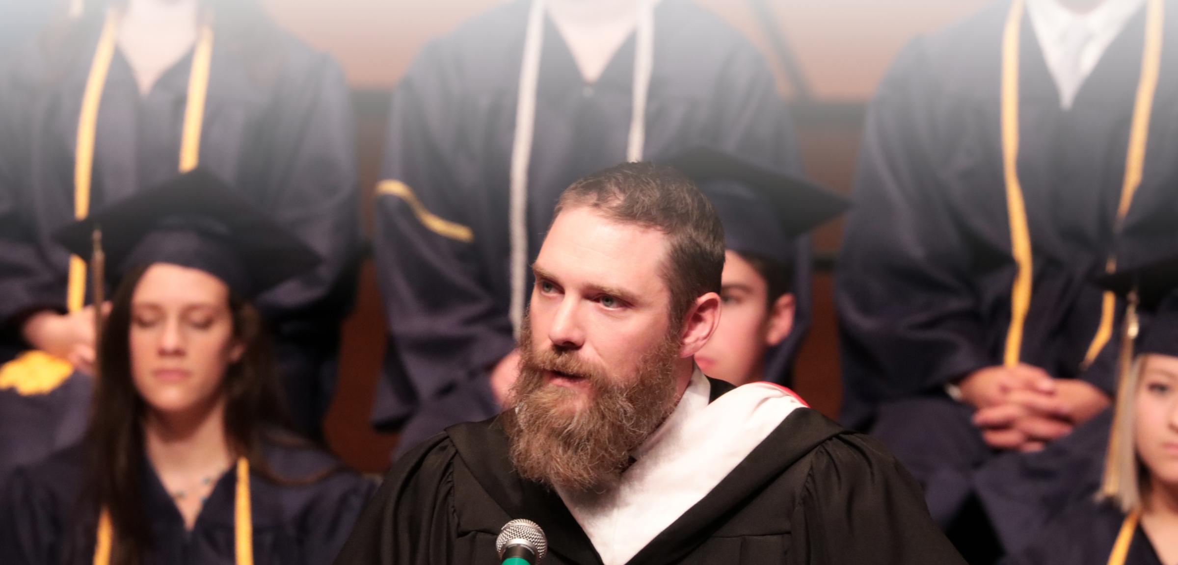 Mr. Anderson speaks at Graduation